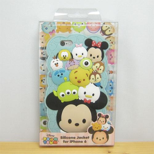 ディズニー TSUMTSUM ツムツム iPhone6対応 シリコンジャケット(ブルー)【iPhone6対応】