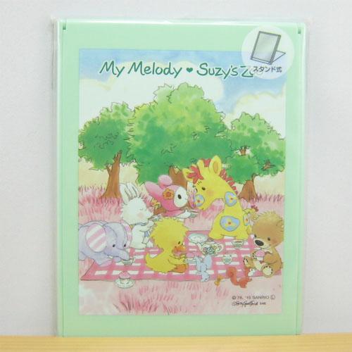 マイメロディ(MY MELODY)×スージーズー(Suzy's Zoo) スタンドミラーL(グリーン)