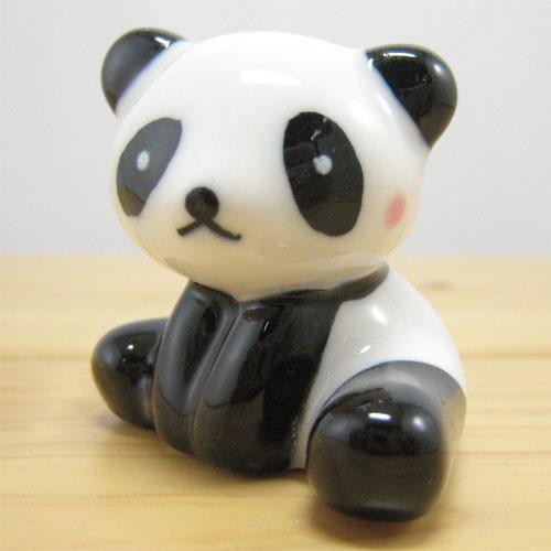 アニマル箸置き パンダ(スワリ) 紅ほっぺ